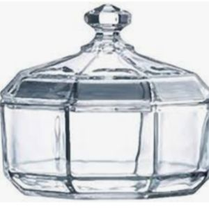 French Vintage Luminarc Octime Sugar Bowl with Lid
